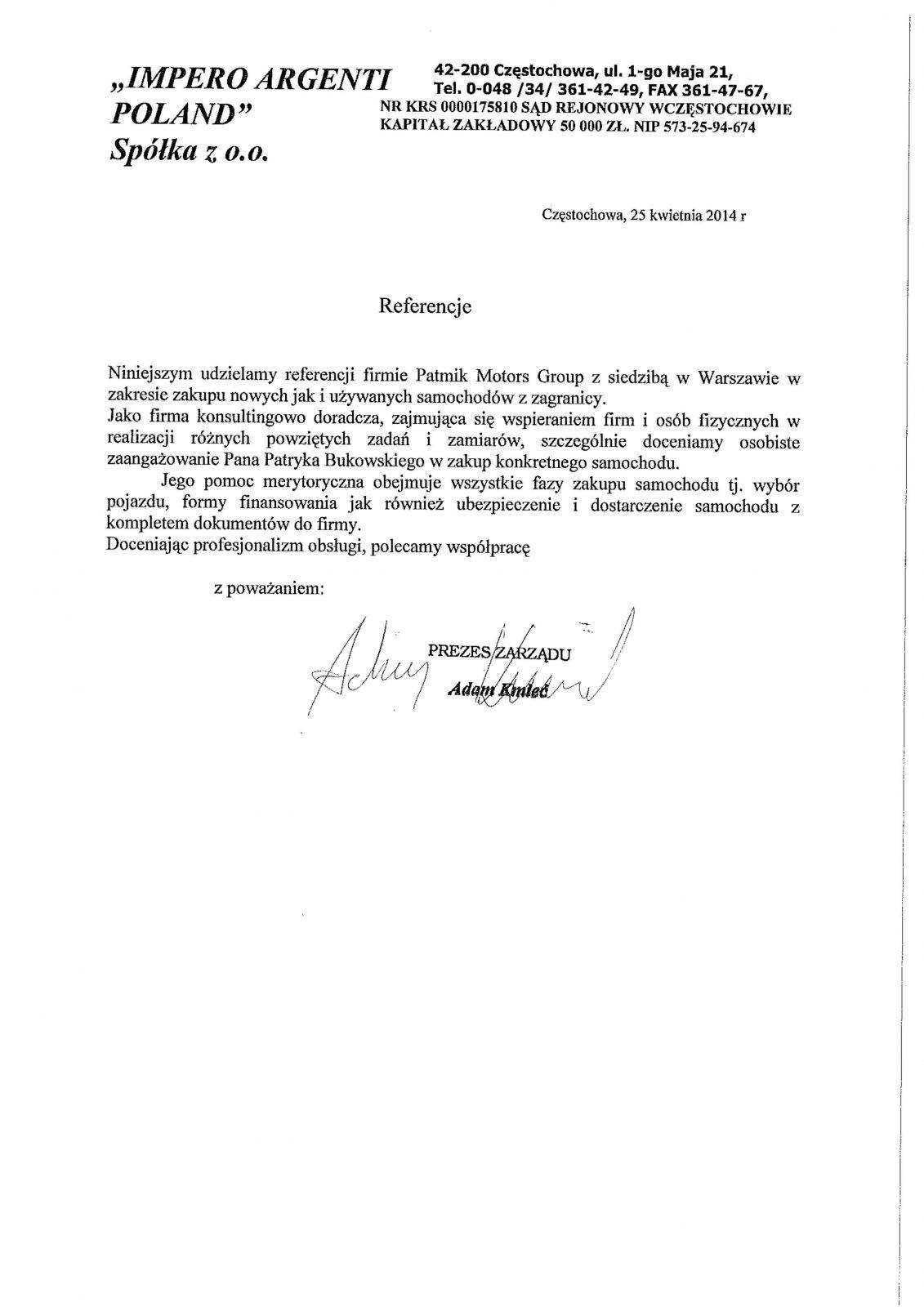Imperio Argenti Poland Sp. z o.o.