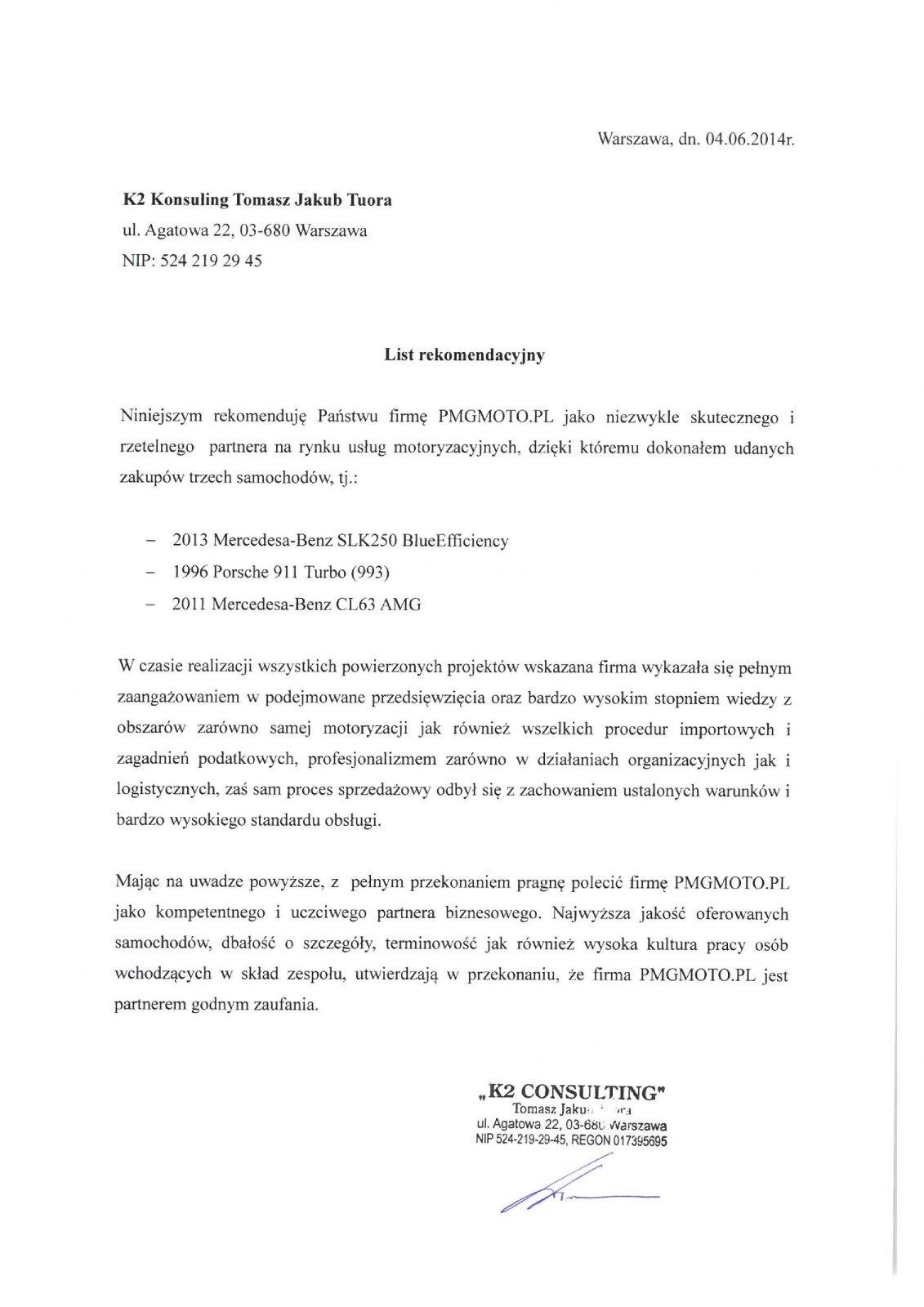 K2 Konsulting Tomasz Tuora