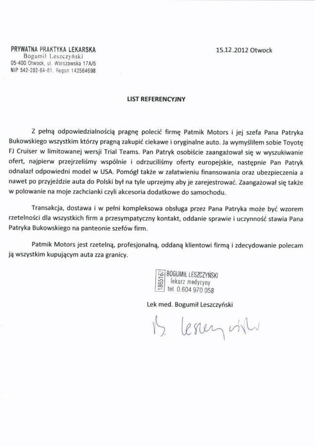 Lek.med. BogumiłLeszczyński