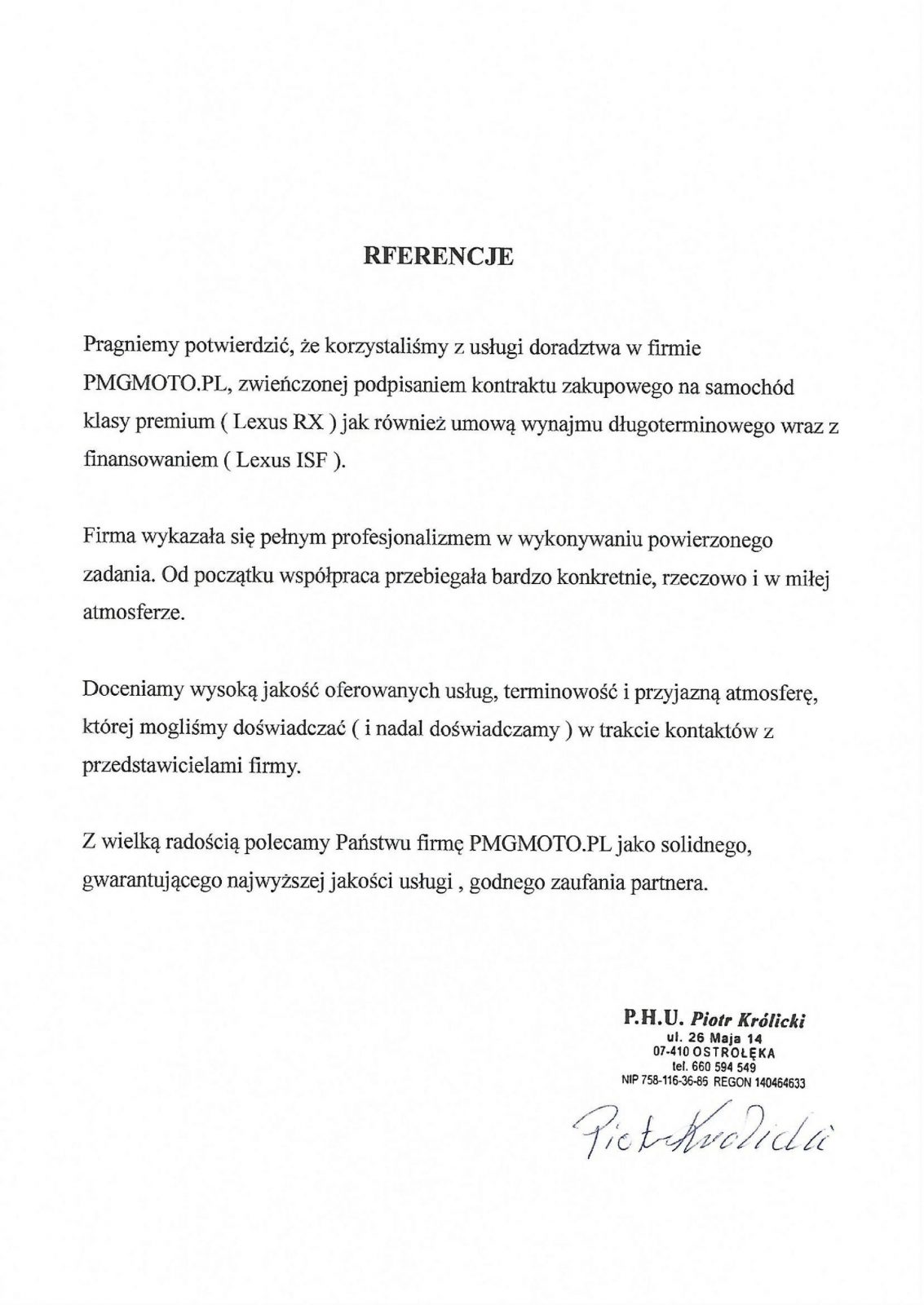 P.U.H. Piotr Królicki
