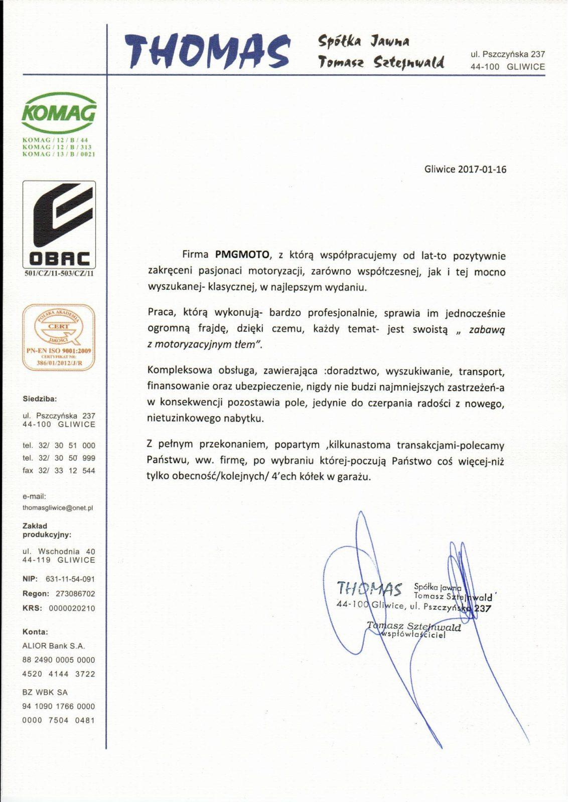 THOMAS Spółka jawna